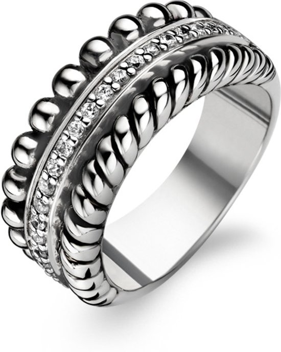 TI SENTO Milano Ring 1836ZI - Maat 58 (18,5 mm) - Gerhodineerd Sterling Zilver