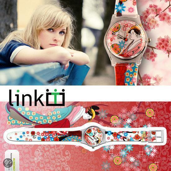 Linkgraphix horloge Kimono - diameter 34 mm - Kunststof