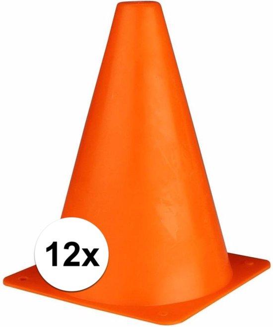 Oranje sport pionnen 19 cm 12 stuks