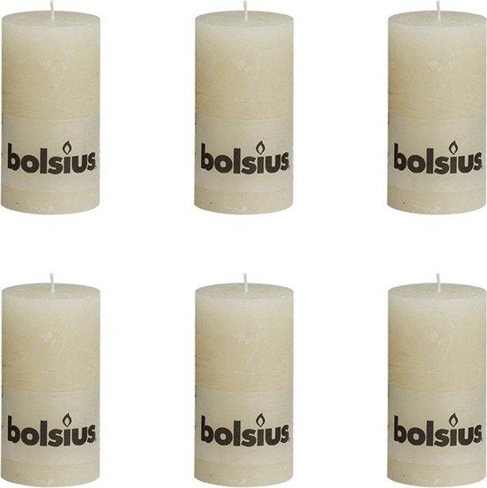 Bolsius Stompkaars 130/68 rustiek Ivoor (per 6 stuks)