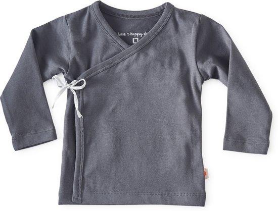 Little Label Unisex Overslagshirt - grijs - Maat 62