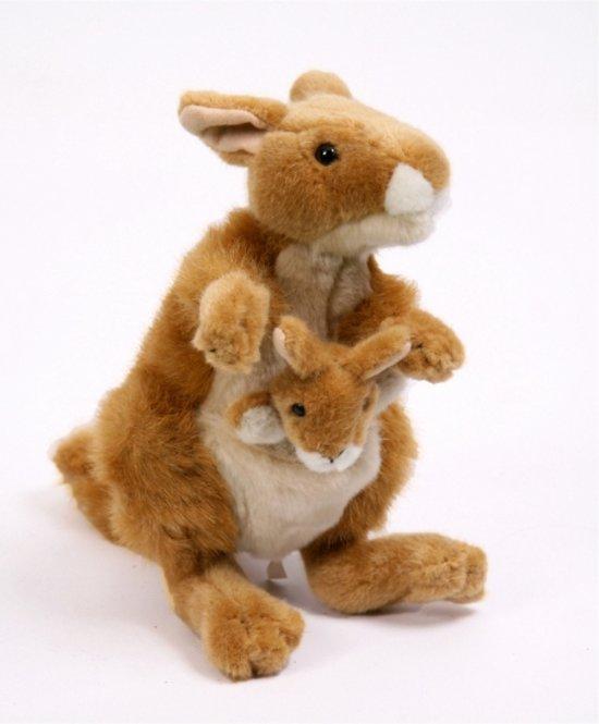 3b8df553f05bc3 bol.com | Pluche kangoeroe met baby in buidel 22 cm, Fun & Feest ...