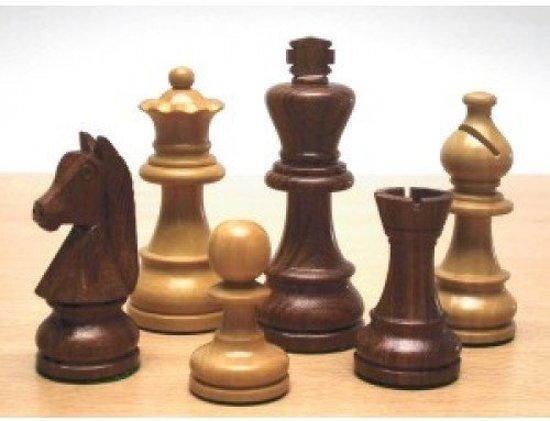 Afbeelding van het spel Schaakstukken Staunton Maat 4 Palm/Palisander