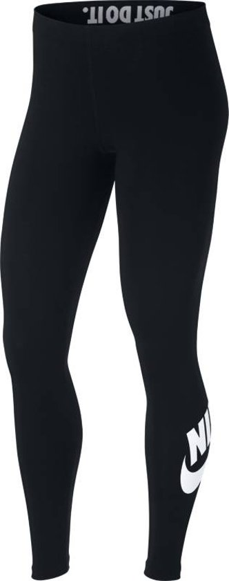 Nike Sportswear Leg-A-See Logo Sportlegging Dames - Black/White