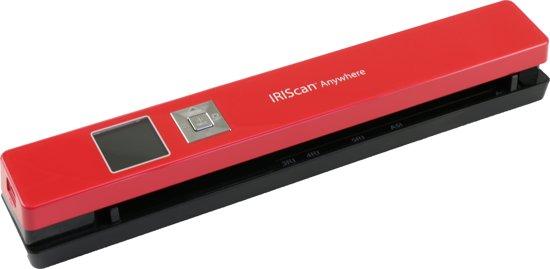 IRIScan Anywhere 5 Rood,draagbare scanner 8PPM-Batterij, scan naar SD Card JPG/PDF, 300/600/1200Dpi,Gratis OCR