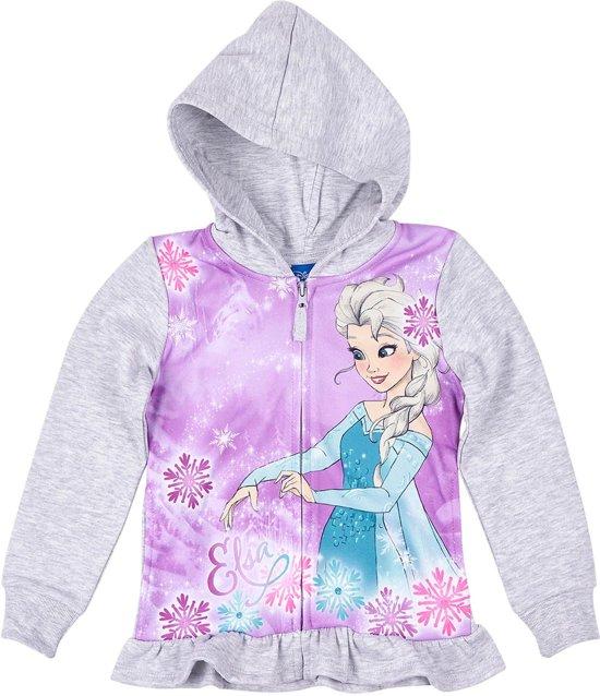 Disney-Frozen-Sweatvest-met-capuchon-grijs-maat-116