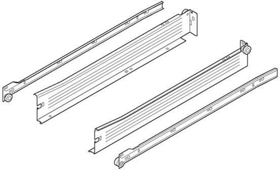 Blum Metabox ladegeleiders - 450mm   86mm hoog - 320M4500C