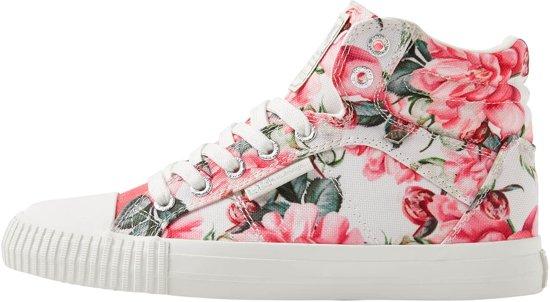 e5f202eb903 Bloemen Dames Roze British 42 Hoog Maat Sneakers Knights Dee EUxUywq6YC