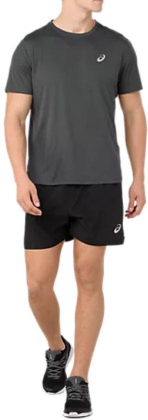 Asics Silver Ss Top Sportshirt Heren - Dark Grey - Maat XL