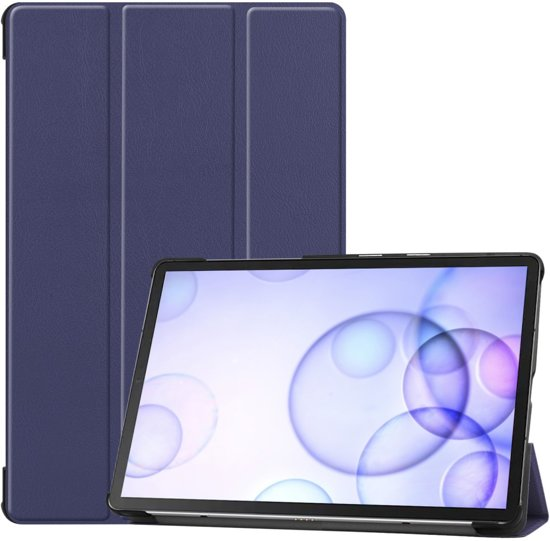 Samsung Galaxy Tab S6 Hoesje - Smart Book Case - Donkerblauw