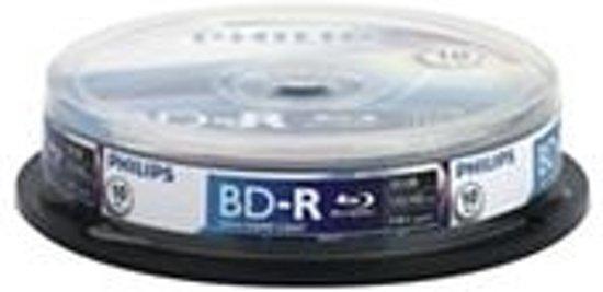 Bluray Philips 25GB 10pcs BD-R spindel 6x