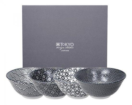 Tokyo Design Studio Nippon Black Kommen - 15 cm - Set van 4