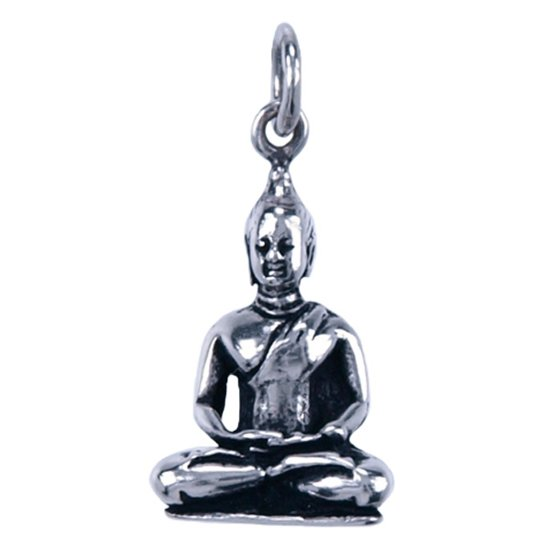 zilveren boeddha hanger