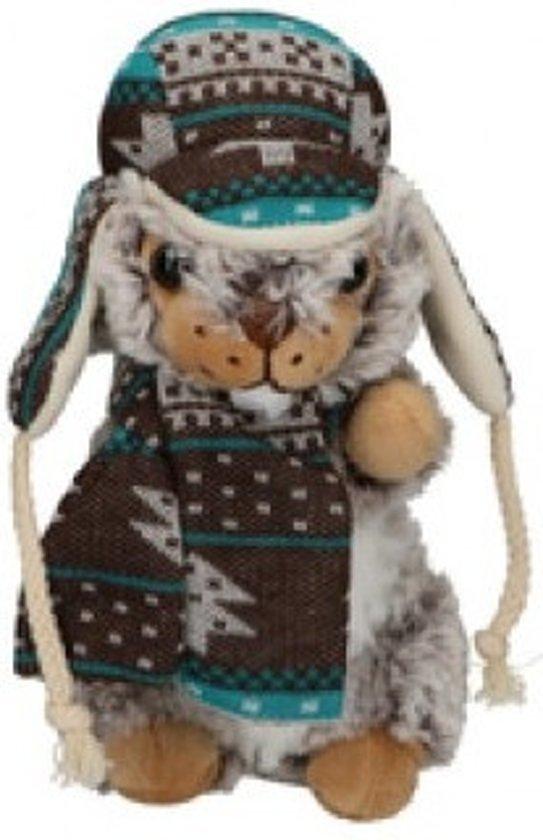 e4691d49c3f943 bol.com | Eddy Toys Knuffel Otter Met Muts En Sjaal Grijs 19 Cm ...
