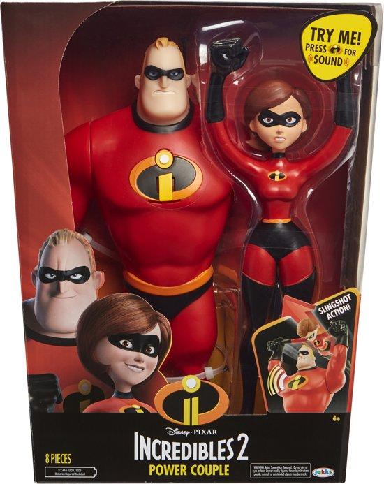Incredibles 2: Elasicgirl ft. Mr. Incredible - 30 cm - Speelfigurenset