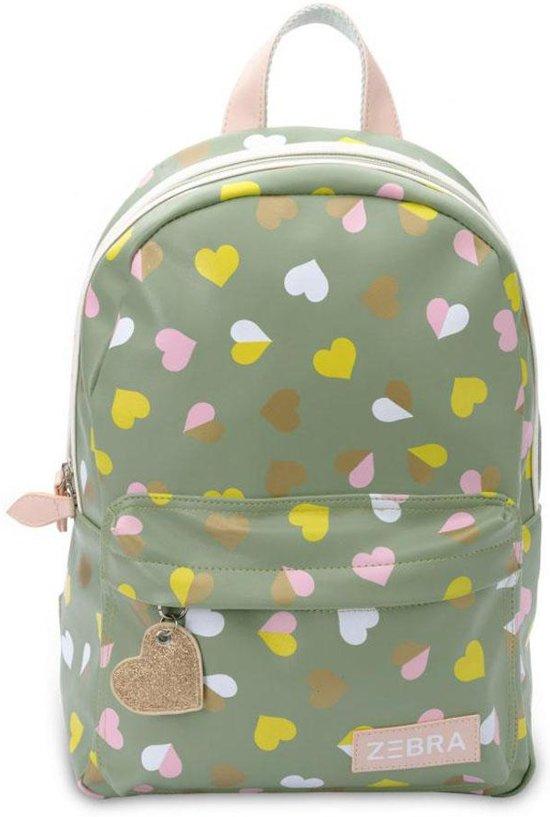 884cb43ec57 bol.com | Zebra Trends kinderrugzak M Hearts Green