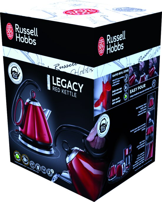 Russell Hobbs Legacy Red Waterkoker - 1,7 L