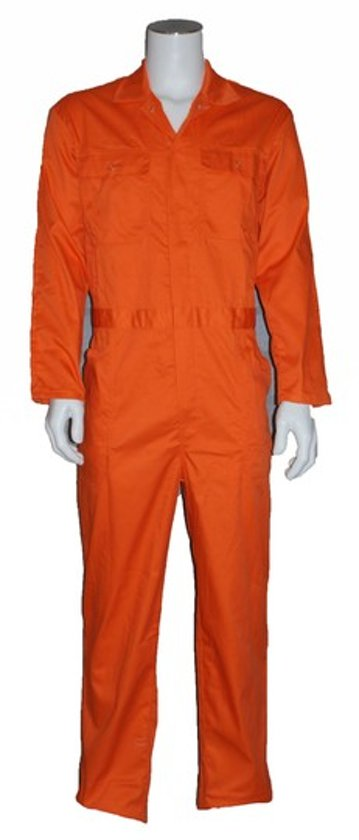 Yoworkwear Overall polyester/katoen oranje maat 70