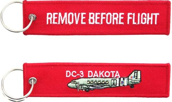 """Sleutelhanger """"Remove Before Flight & DC-3 Dakota"""""""