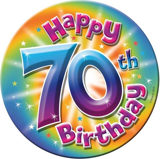 verjaardag 70 jaar bol.| 70 jaar verjaardag button groot   16cm, Folat | Speelgoed verjaardag 70 jaar