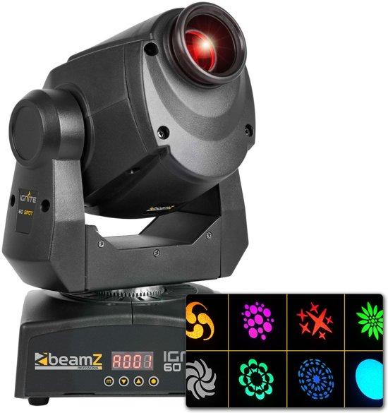 2e keus - BeamZ IGNITE60 Moving Head met 60W LED, gobo's en prisma