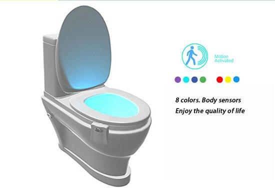 Bol toiletpotverlichting automatisch led licht voor de wc