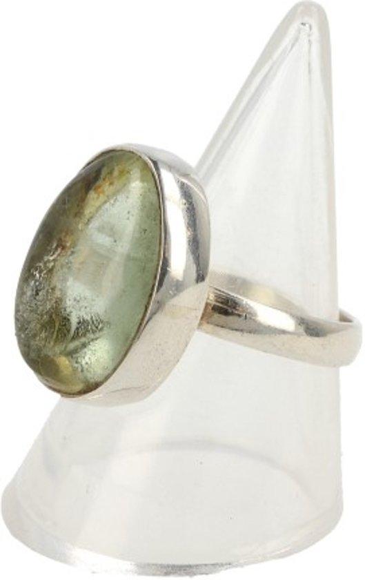 Top bol.com | Prehniet edelsteen ring – Echt zilver – maat 17 #WH87