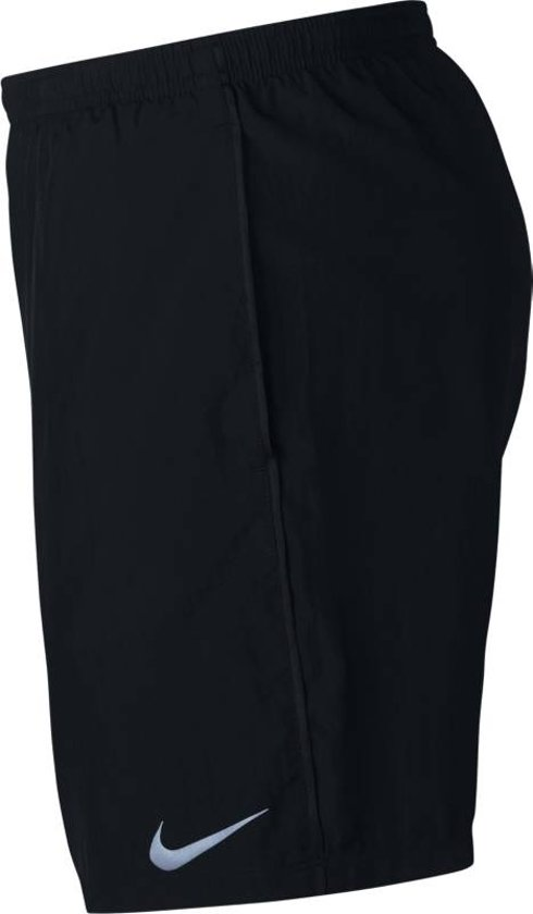 Nike Run Short 7In Sportshort Heren - Black/Black/(Reflective Silv)