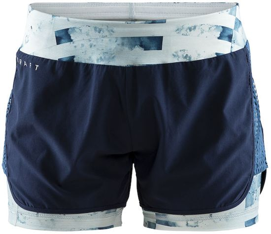 Craft - Charge 2-in-1 Shorts W - Hardloopshorts dames - Blaze/P Jumble - S