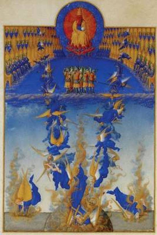 The Fall of the Rebel Angels by the Limbourg Brothers