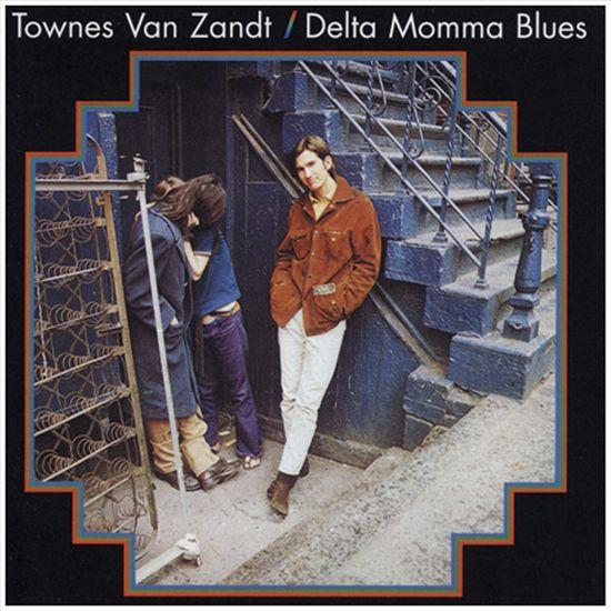 CD cover van Delta Momma Blues -Hq- van Townes Van Zandt