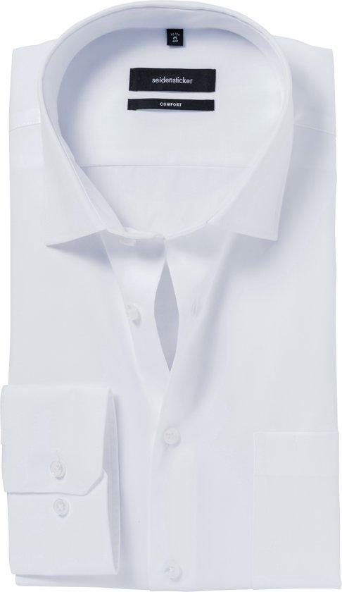 Maat 44 Overhemd.Bol Com Seidensticker Overhemd Comfort Fit Wit 44 Maat 44