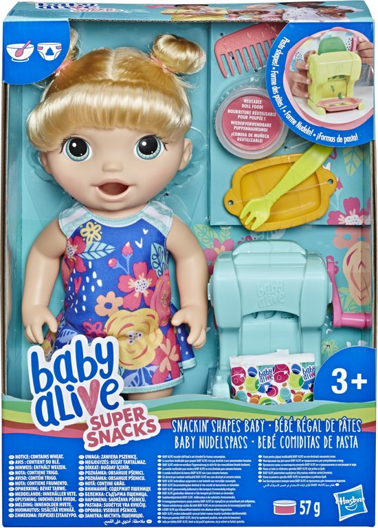 Baby Alive Snackin Pasta Baby Blond