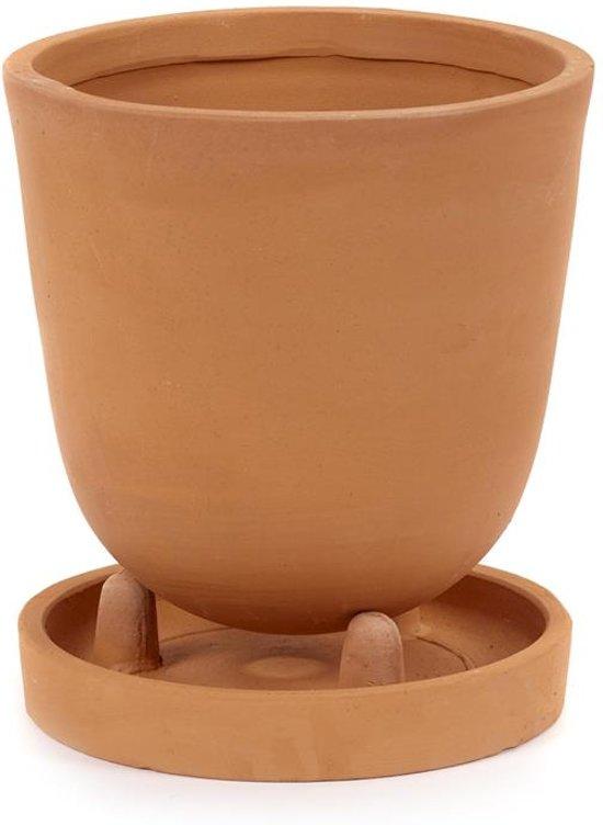 Serax NV - pot conisch met onderbord s d15,5h18 - rood