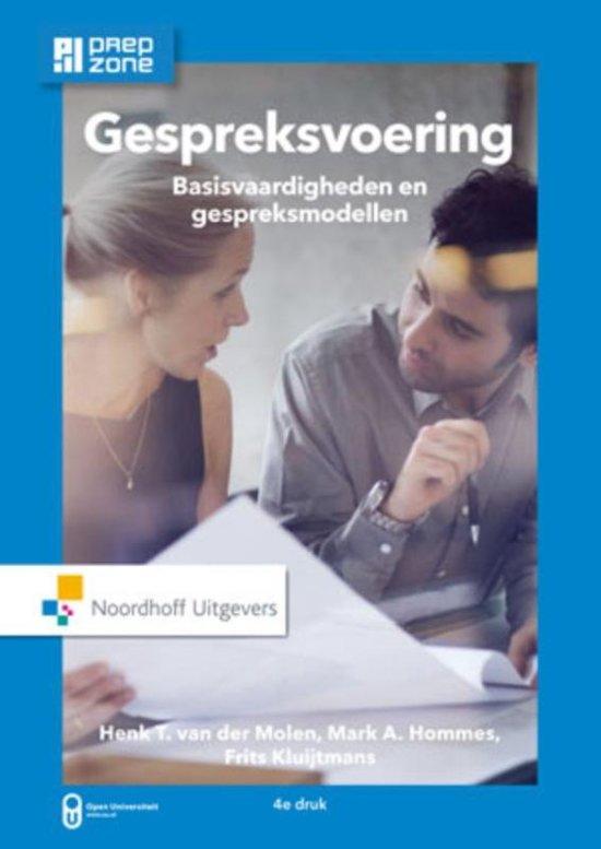 Boek cover Gespreksvoering incl. toegang tot Prepzone van H.T. van der Molen (Paperback)