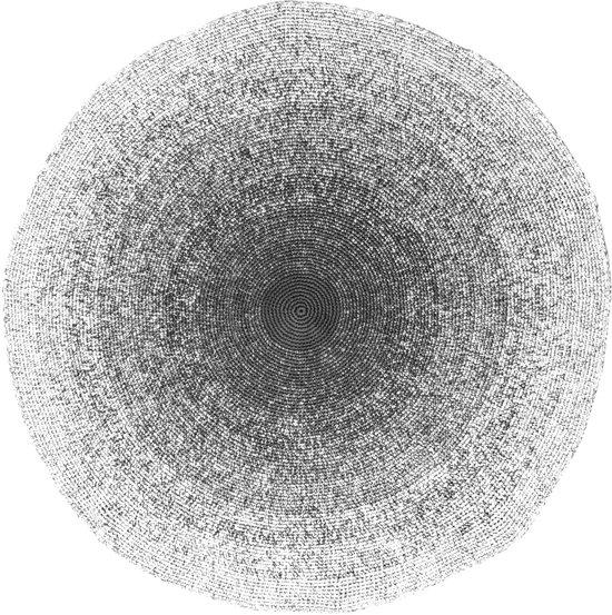 Ongebruikt bol.com   Sebra - Vloerkleed gehaakt - zwart/wit - doorsnede 120cm NU-17