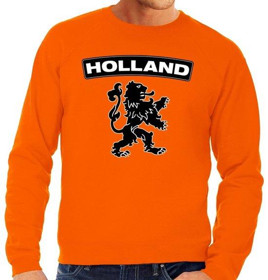 Zwarte Trui Mannen.Bol Com Oranje Holland Zwarte Leeuw Sweater Trui Heren Oranje