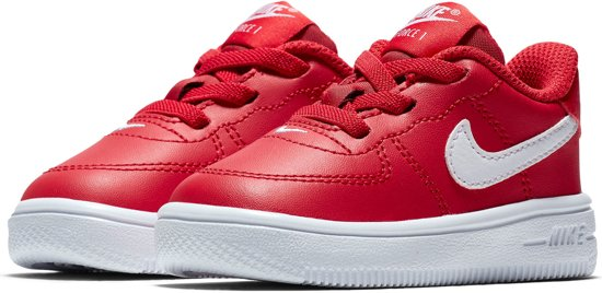 Nike Force 1 '18 Chaussures De Sport - Taille 21 - Unisexe - Rouge / Blanc BlJUi4