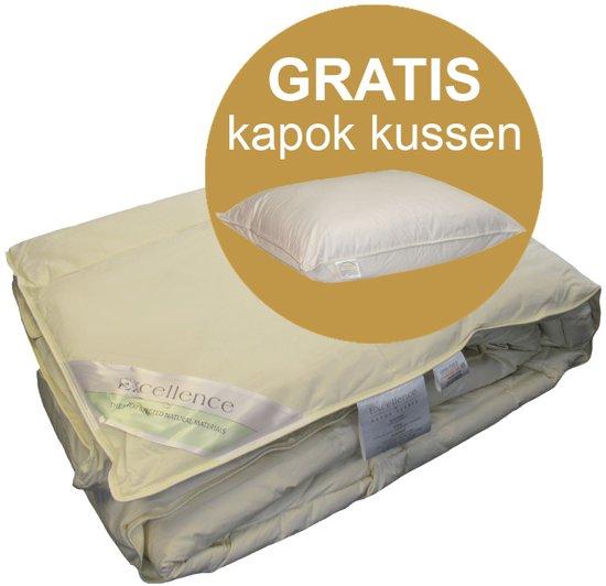 Kapok Kussen Reinigen.Excellence Dekbed Kapok Gratis Kapok Kussen Eenpersoons 140x220 Cm Ecru