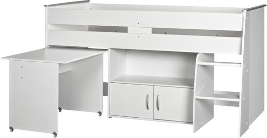 woonexpress joris hoogslaper wit 90 x 200 cm. Black Bedroom Furniture Sets. Home Design Ideas