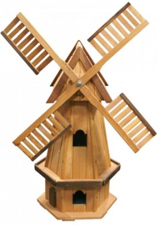 Windmolen hout voor tuin d co 94cm for Moulin en bois pour jardin