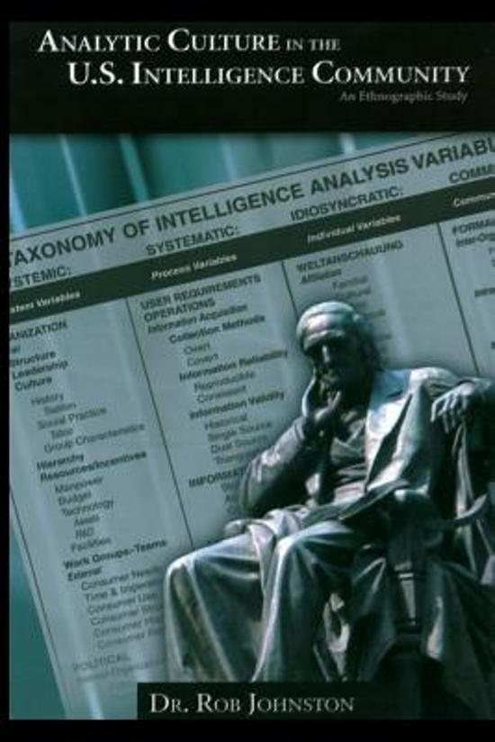 Analytic Culture in the U.S. Intelligence Community