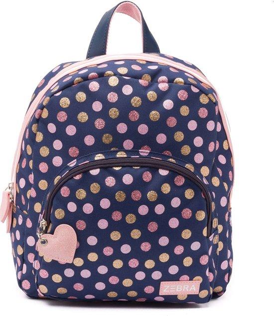 42d54ee2a11 bol.com   Zebra Trends Kinder Rugzak Wild Dots Glitter Navy