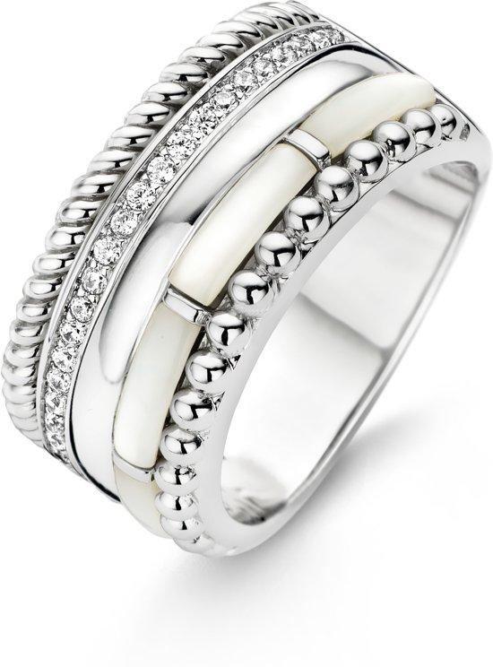 TI SENTO Milano Ring 12038MW - Maat 56 (17,75 mm) - Gerhodineerd Sterling Zilver