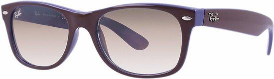 ddaef7154f655d Ray-Ban RB2132 618985 - zonnebril - New Wayfarer - Top Matte Chocolate On  Blue