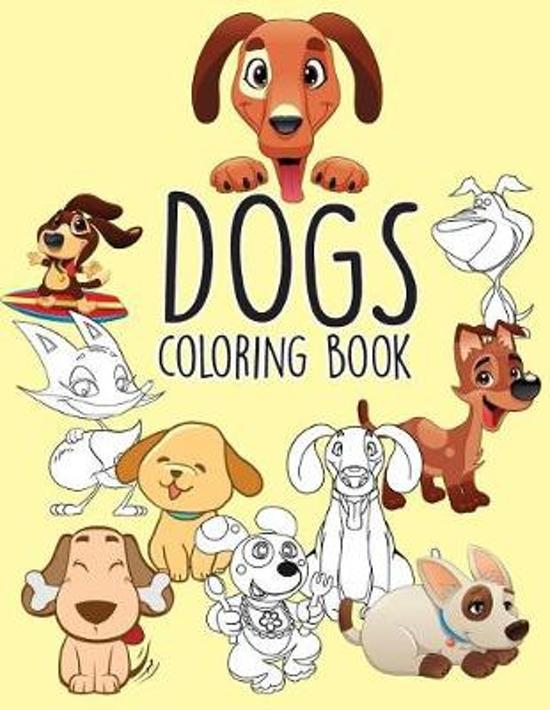 Bol Com Dogs Puppies Easy Coloring Book For Kids Toddler