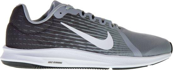 Nike Downshifter 8 Sportschoenen - Maat 44.5 - Mannen - grijs/donker grijs/wit