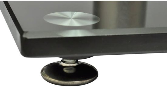 vidaXL Speaker standaard Vocal set van 2 zwart glas