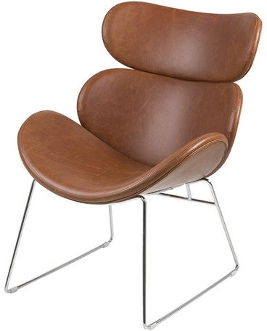 Design Fauteuil Tweedehands.Fauteuil Bee Vintage Bruin Moderne Design Stoel