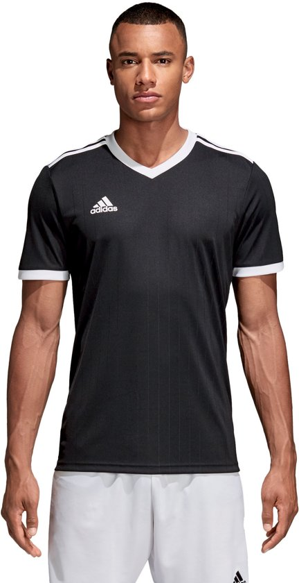 adidas Tabela 18 SS Jersey Teamshirt Heren Sportshirt performance Maat XXL Mannen zwartwit